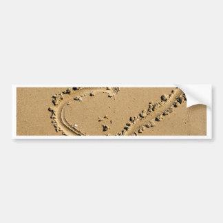 Beach Heart of Love Bumper Sticker