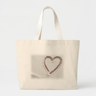 Beach Heart of Sand Large Tote Bag