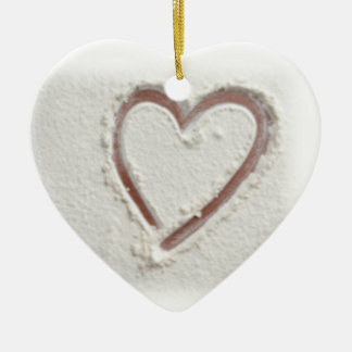 Beach Heart of Sand Wedding Christmas Ornament