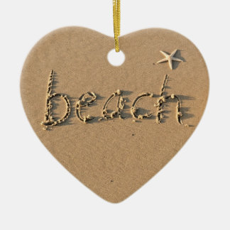 Beach Heart Ornament