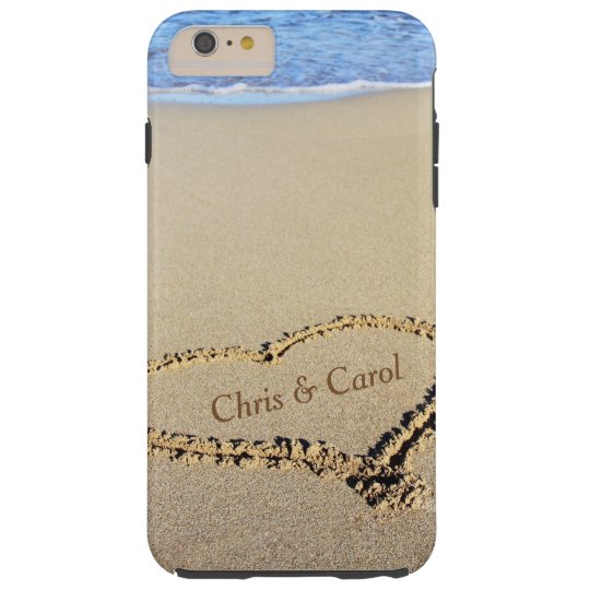 Beach Heart Phone Case w/ Names