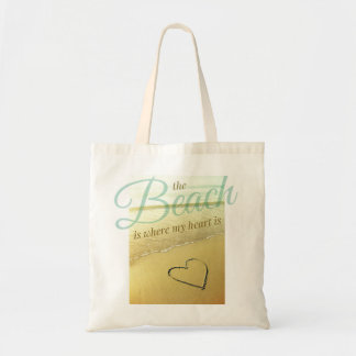 Beach Heart Sand Drawing Bag