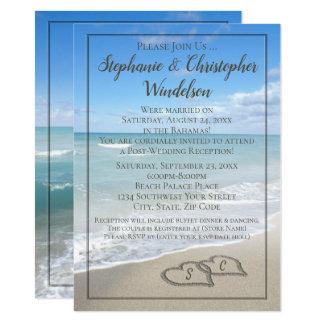 Beach Hearts Destination Post-Wedding Reception Card