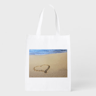 Beach Hearts In Sand Market Tote