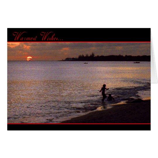 Beach Holiday Card