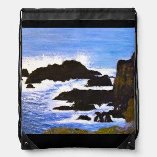 Beach Holiday Drawstring Bag