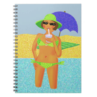 Beach holiday spiral notebook
