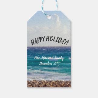 Beach holidays gift tags