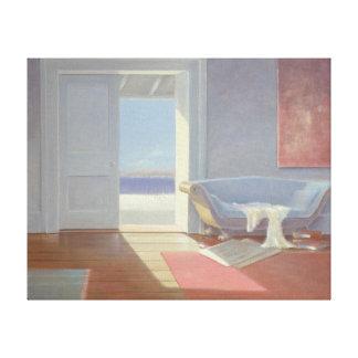 Beach house 1995 canvas print