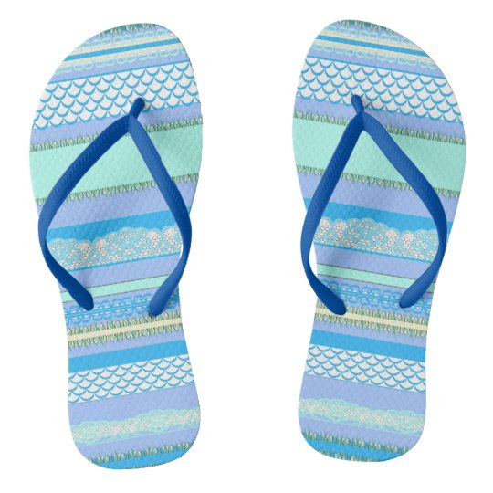 Beach House Blue surf Flip Flops