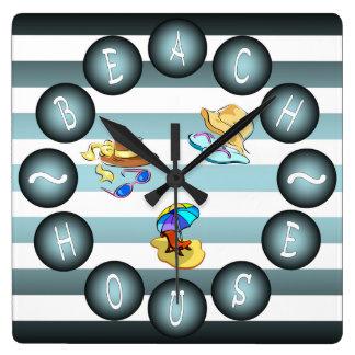 """""""Beach House"""" Clock ~ Summer House ~ """"Sun & Fun"""""""