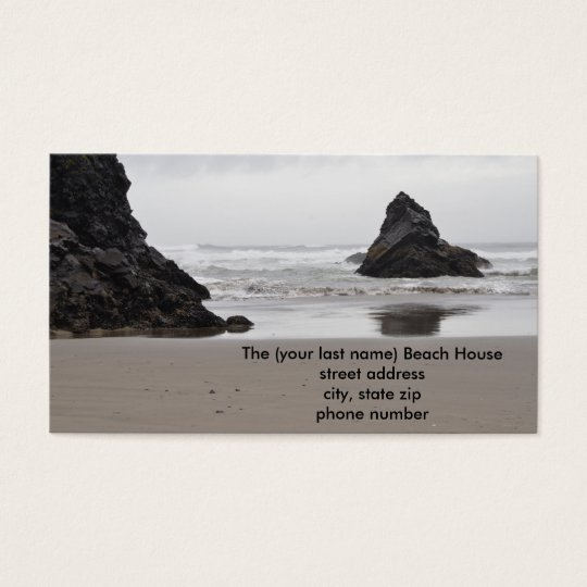 Beach House Contact Cards