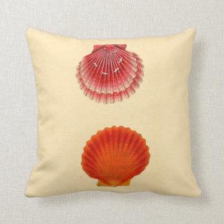 Beach House Decor Throw Pillow Sea Shells