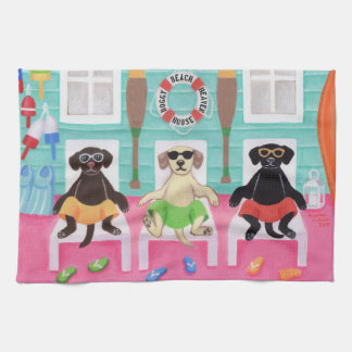 Beach House Labrador Boys Towel