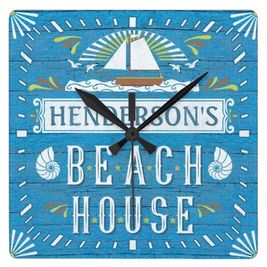Beach House Nautical Sailboat Shells Custom Name 2