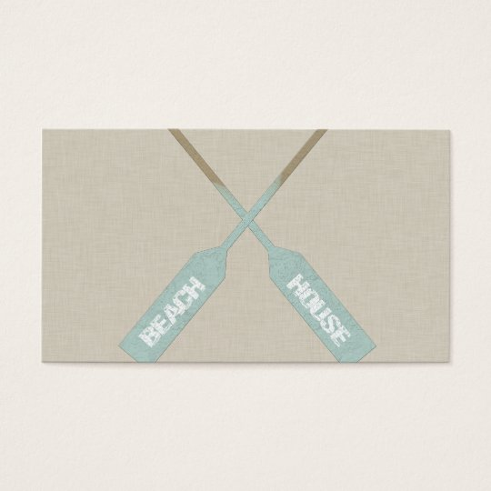 Beach House Oars Business Card