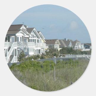 Beach House Real Estate Round Sticker