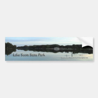 Beach House Reflection at Lake Scott State Park Bumper Sticker