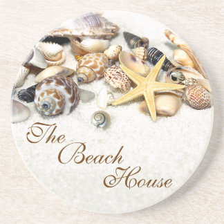 Beach House Seashells Coaster