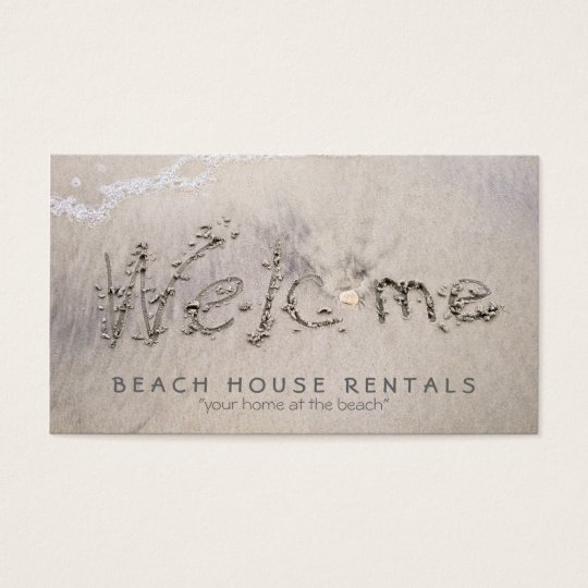 Beach House Welcome (extra pic) Business Card