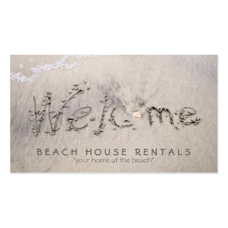 Beach House Welcome extra pic Business Card Template