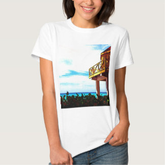Beach House with Ocean View Tee Shirts