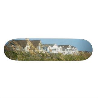 Beach Houses and Beach Grass Night Skate Board Deck