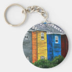 beach houses drawing illustration art gifts key ring