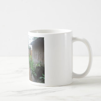beach hut basic white mug