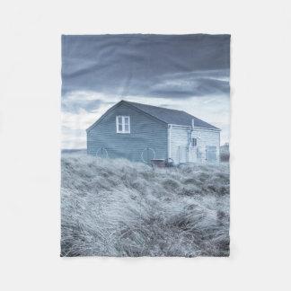 Beach Hut Fleece Blanket