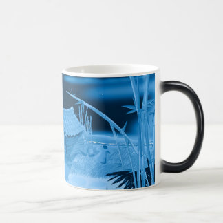 Beach Hut on moonlit beach Morphing Mug