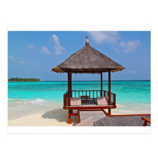 beach hut tropical paradise peace relax remote postcard