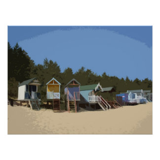 BEACH HUTS 1 POSTERS