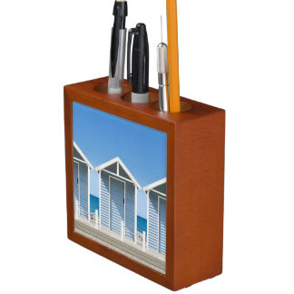 Beach Huts 2 Pencil/Pen Holder