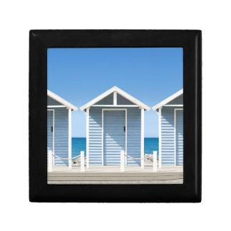 Beach Huts 2 Small Square Gift Box
