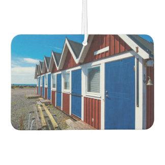 Beach Huts 3 Car Air Freshener