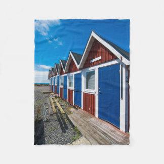 Beach Huts 3 Fleece Blanket