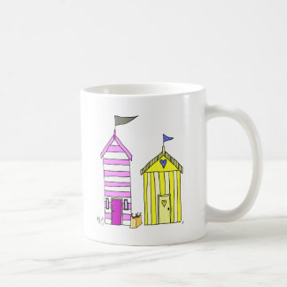 Beach Huts 3 Illustration Coffee Mug
