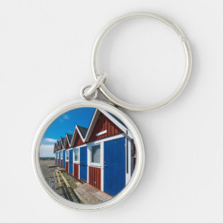 Beach Huts 3 Key Ring