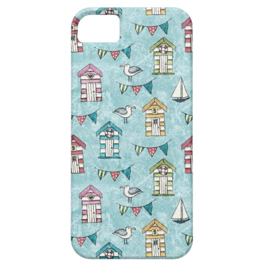 Beach Huts and Gulls Pattern iPhone 5 Case