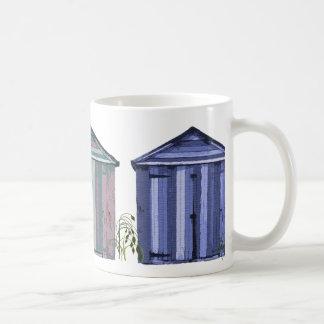 Beach Huts Art Basic White Mug