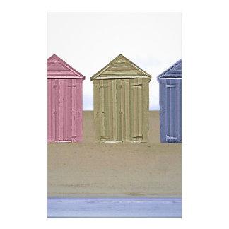 Beach Huts Art Personalized Stationery