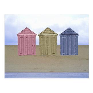 Beach Huts Art Post Cards
