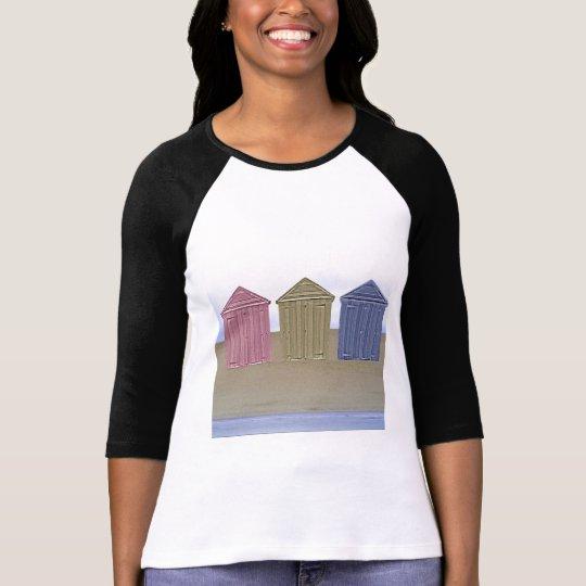 Beach Huts Art T-Shirt