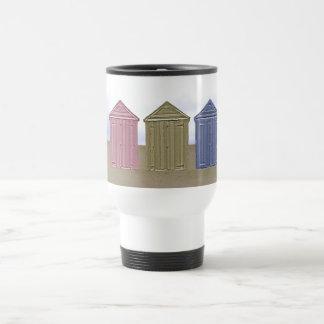 Beach Huts Art Travel Mug