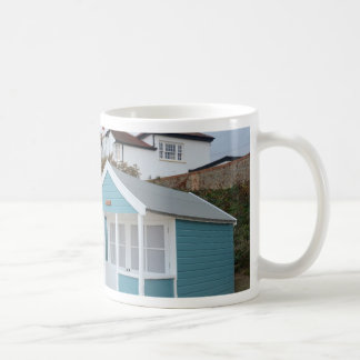 Beach Huts At Southwold Basic White Mug