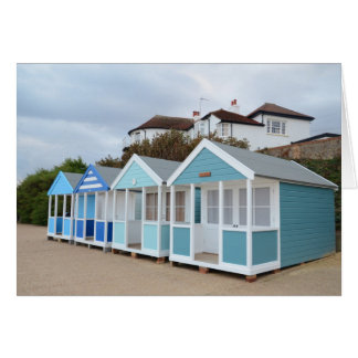 Beach Huts At Southwold Card