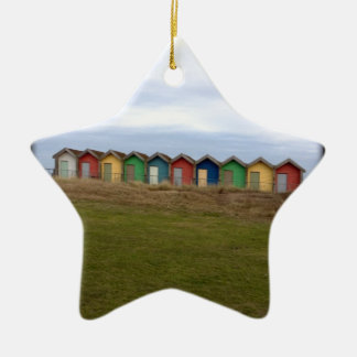 Beach Huts Christmas Ornament