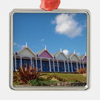 Beach Huts Christmas Ornament