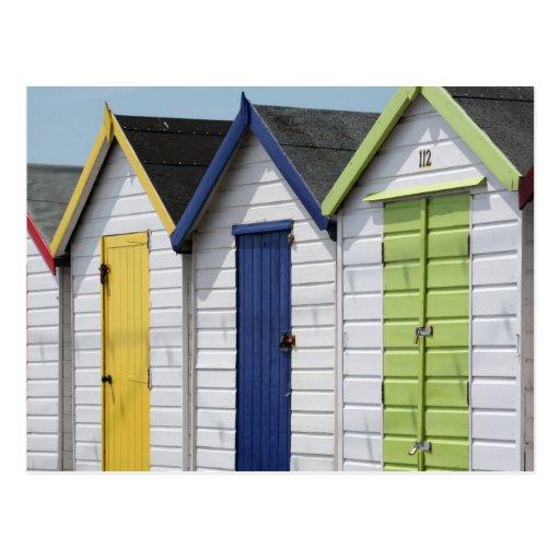 Beach Huts, Devon Post Card